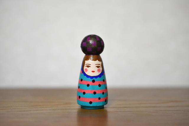 球体者(むらさき黒市松)