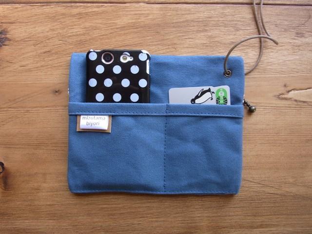 「strap pocket」 blue gray