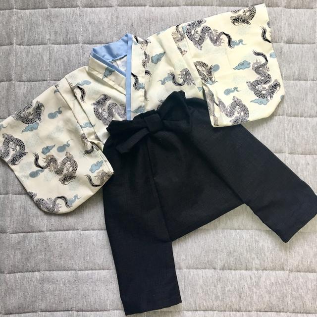 cd8fe8c53ca33 男の子用ベビー着物と袴風サルエルパンツ