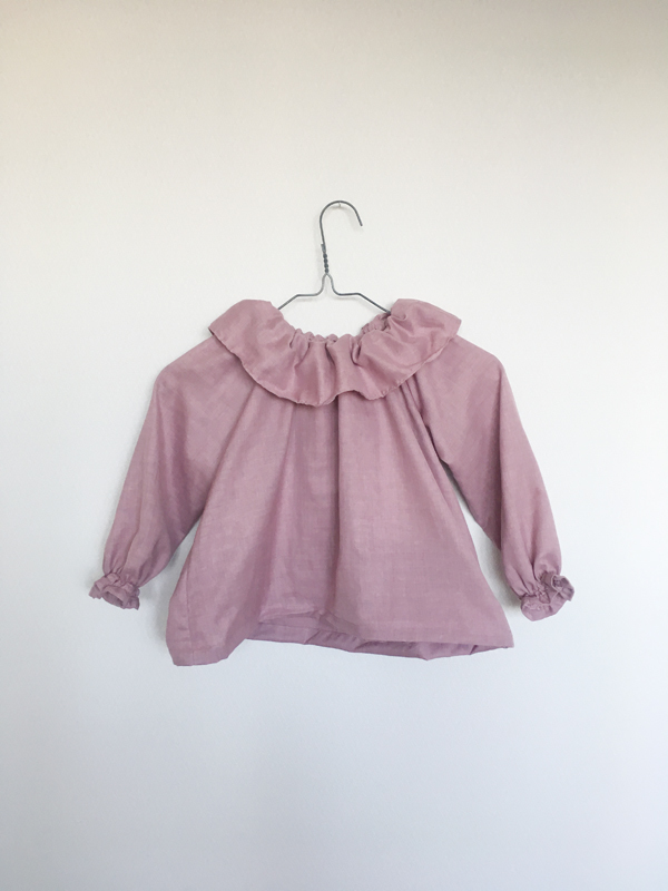 kids Frilly blouse   - smoky pink -  110