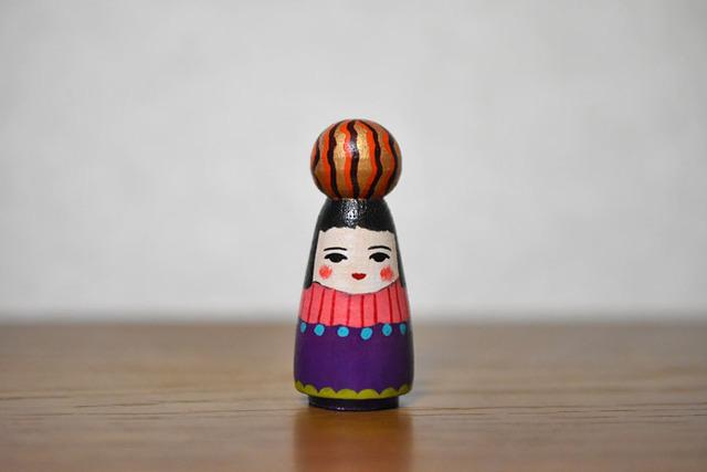 球体者(オレンジ金茶たてじま)
