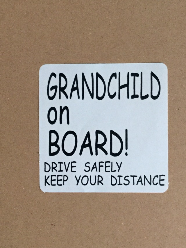 GRANDCHILD ON BORAD! 車 ステッカー