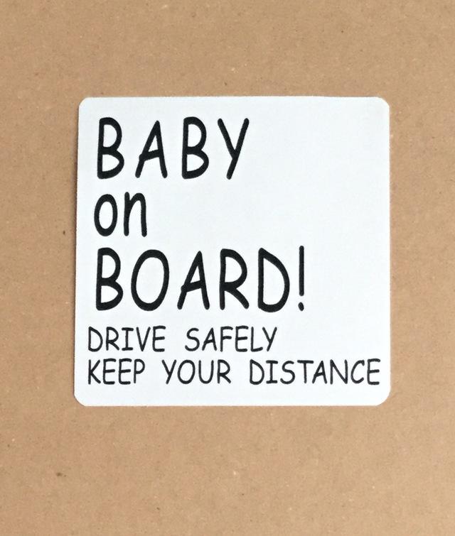 BABY ON BORAD! 車 ステッカー