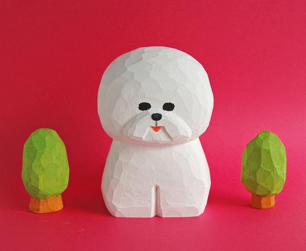 木彫り人形 Bigビションフリーゼ  [MW...