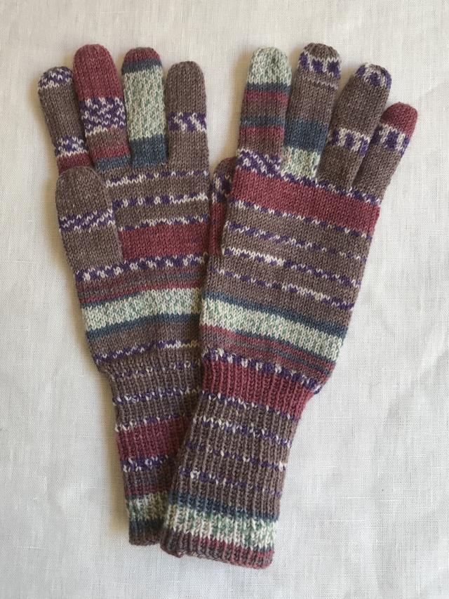 手編み5本指手袋 No.54