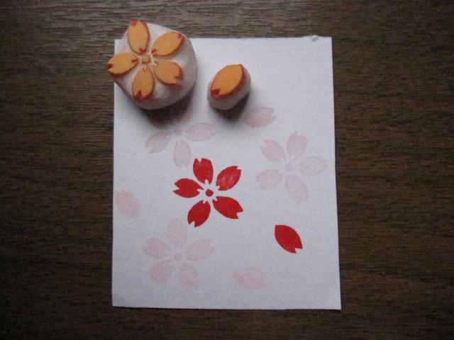 消しゴムはんこ 桜