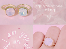 square stone ring ♡