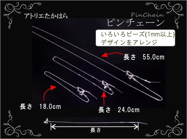 ピンチェーン ブレスレット アンクレット 24cm m0012