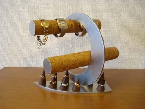 三日月腕時計スタンド 指輪スタンドが...