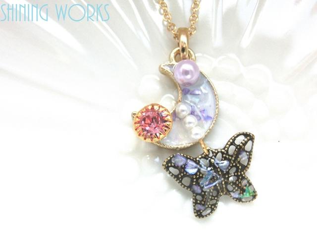 月と蝶のネックレス ヴィンテージスワ...