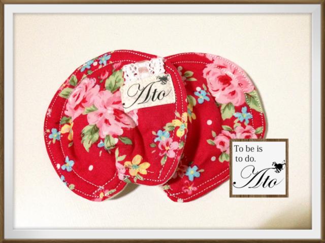 【試作品sale】メルヘンお花のママパッド(布の母乳パッド)
