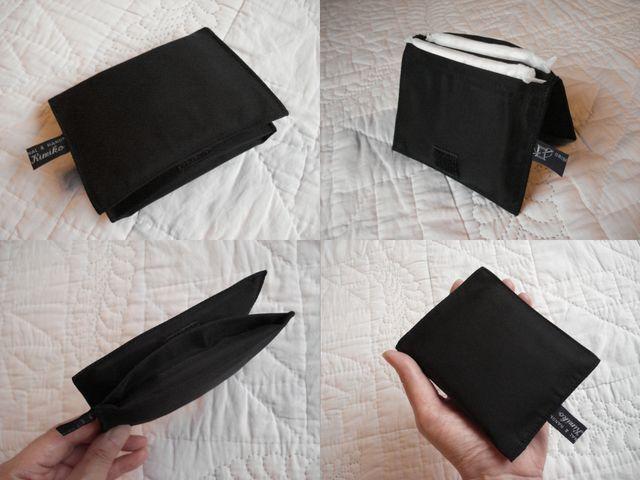 パーティーバッグ&クラッチバッグ&ハンドバッグ&ミニバッグにもかさばらない2つ折り手のひらサイズ薄型コンパクトサニタリーポーチ*Bagにお1つ&プレゼントにも♪