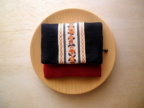 mini purse pouch (tirol & linen navy)
