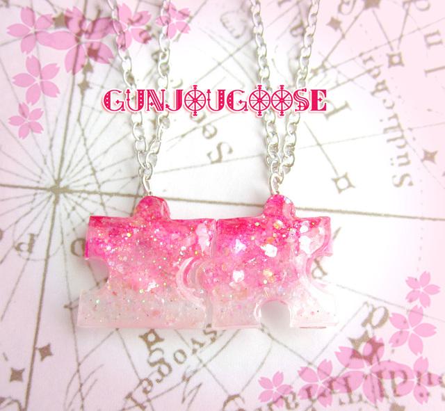 桜色パズルネックレス -sakura-【受注製...