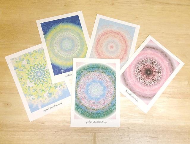 月桃紙で作ったポストカードセット5枚...