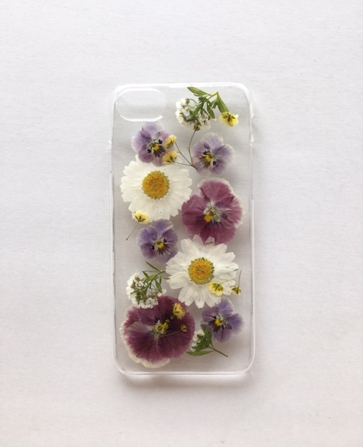 iphone7/6/6S  ビオラの押し花ケース
