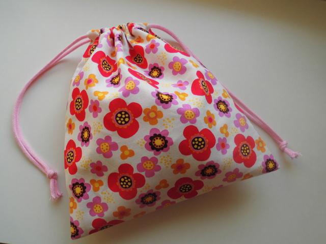 巾着袋(レッド+ピンク)