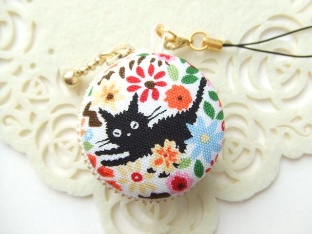 黒猫&花11/マカロンコインケース(マカ...
