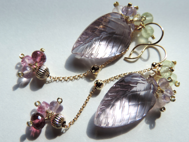 『 Elegant leaf ( SP ) 』Pierce by K18