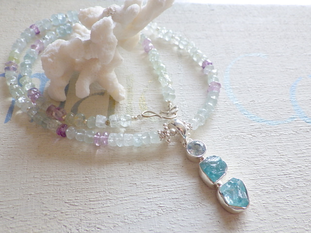 Blue Ocean Gem Necklace*アパタイト*...