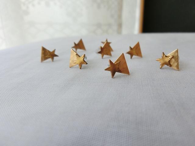 幾何学する星のピアス