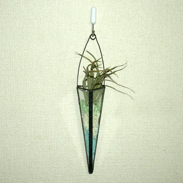 ステンド 三角スリム 一輪挿し アンティーク風 No,1599