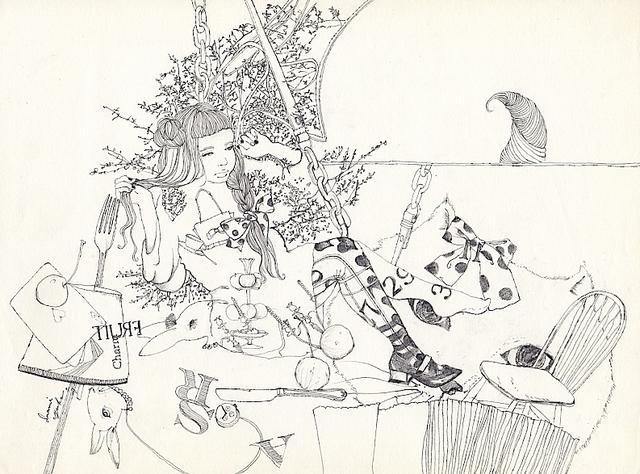 原画 線画のアリス