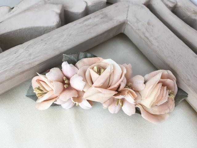 薔薇と桜のプチバレッタ