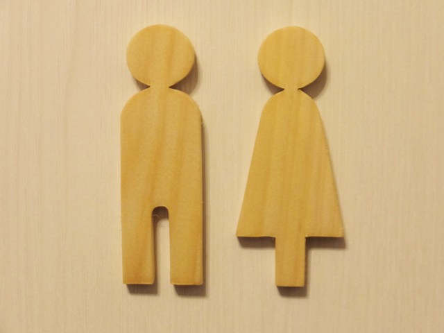 木製トイレサイン☆トイレピクト☆ナチュラル