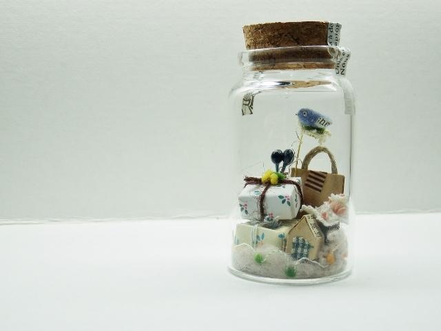 しあわせの青い鳥ボトル-M  楽しい贈り...