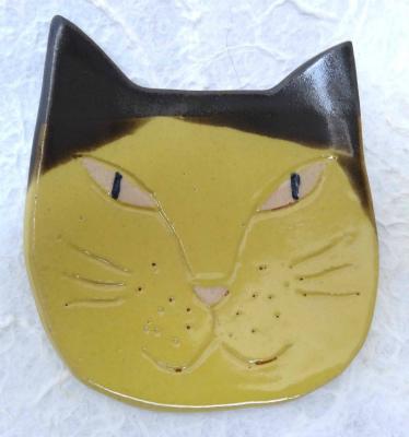 猫 黄色&焦げ茶