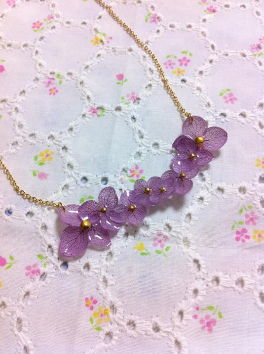 お花のネックレス   A