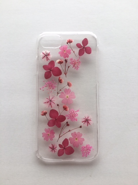iphone7/6/6S  小花の押し花ケース