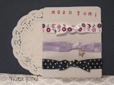 【再販・ラスト2セット】ヘアタイ3本セット/お花とお星さまと水玉のヘアタイ