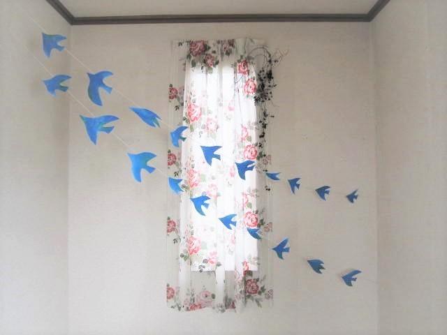 4m Lサイズ 青い鳥のガーランド