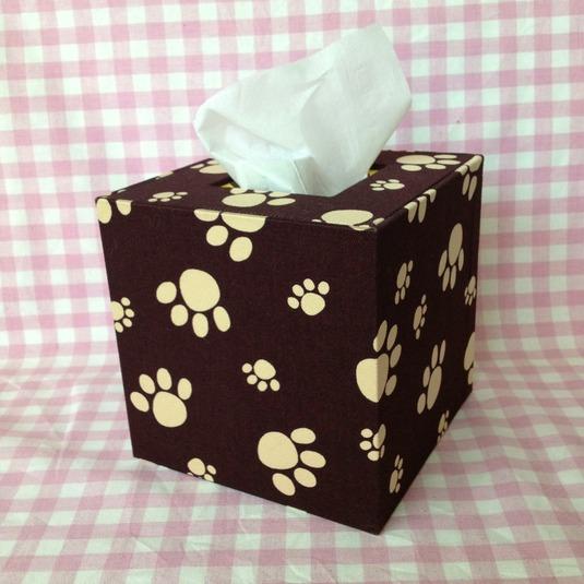 ティッシュボックス(犬・こげ茶)