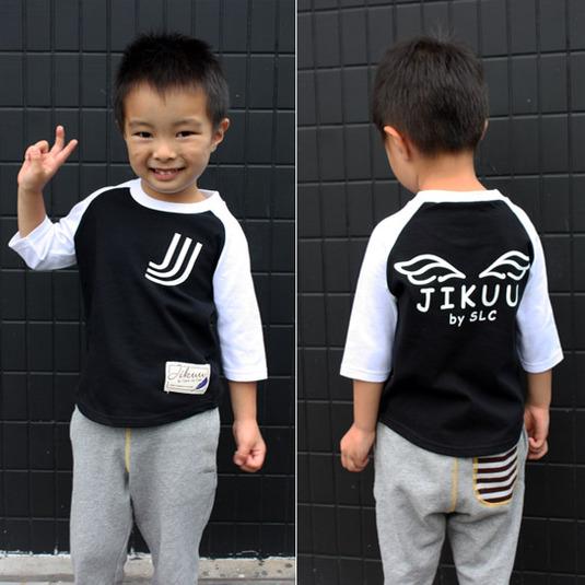 【JIKUU】キッズラグラン7分袖Tシャツ『エンジェル』