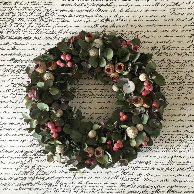 natural wreath   ユーカリ A02