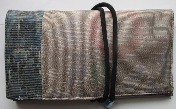 送料無料 色大島紬で作った和風財布 ...