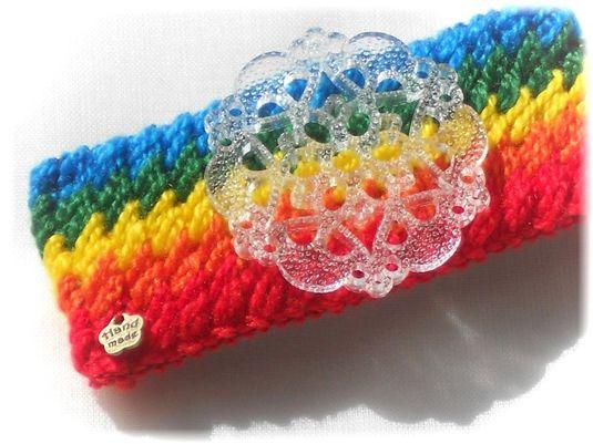 ヴィンテージクリアプラスティック*Rainbow*バレッタ☆彡