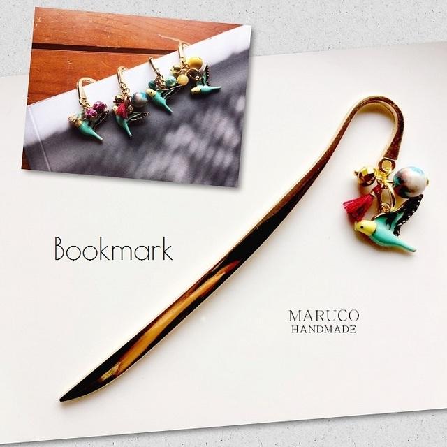 32-51 Bookmarkセキセイインコのしおり*...