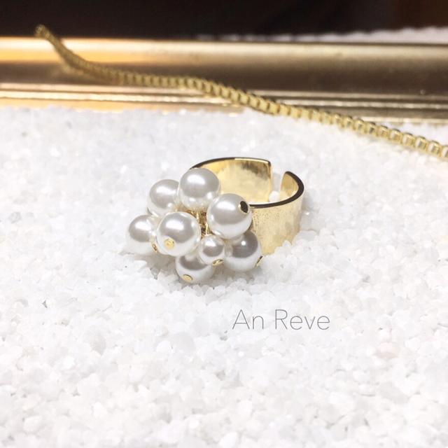 k16gp ◇ dress pearl ring ◇