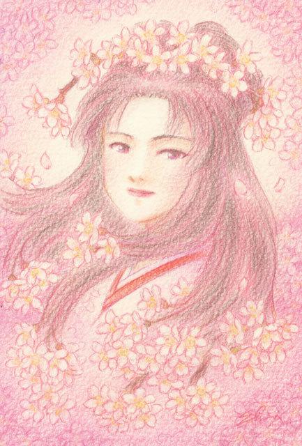 桜の天女(150417)★手描き原画★