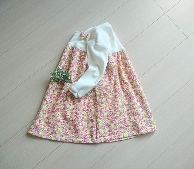 再販【size90】春のワンピース
