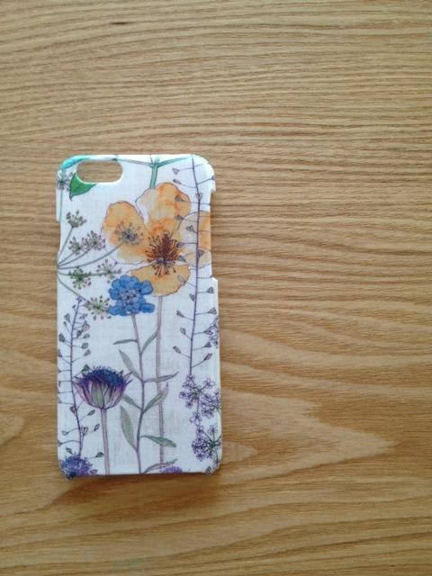 リバティ iphone6ケース(イルマ イエローベージュ)