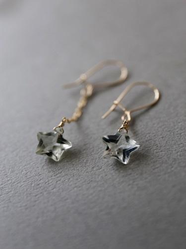 (14kgf)宝石質煌めく星型グリーンアメジ...