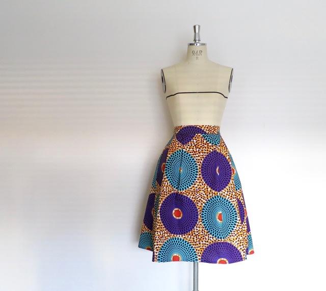 アフリカンワックスプリントスカート☆...