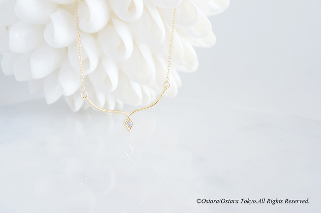 【14KGF】Necklace,Simple Diamond