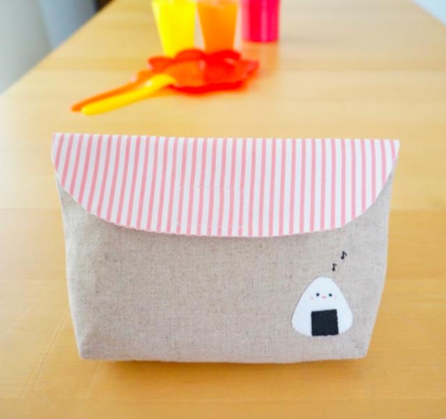 おむすびくんお弁当袋 封筒型 ピンク