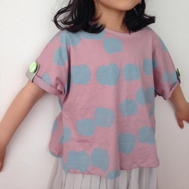送料無料★リンゴTシャツ ピンク